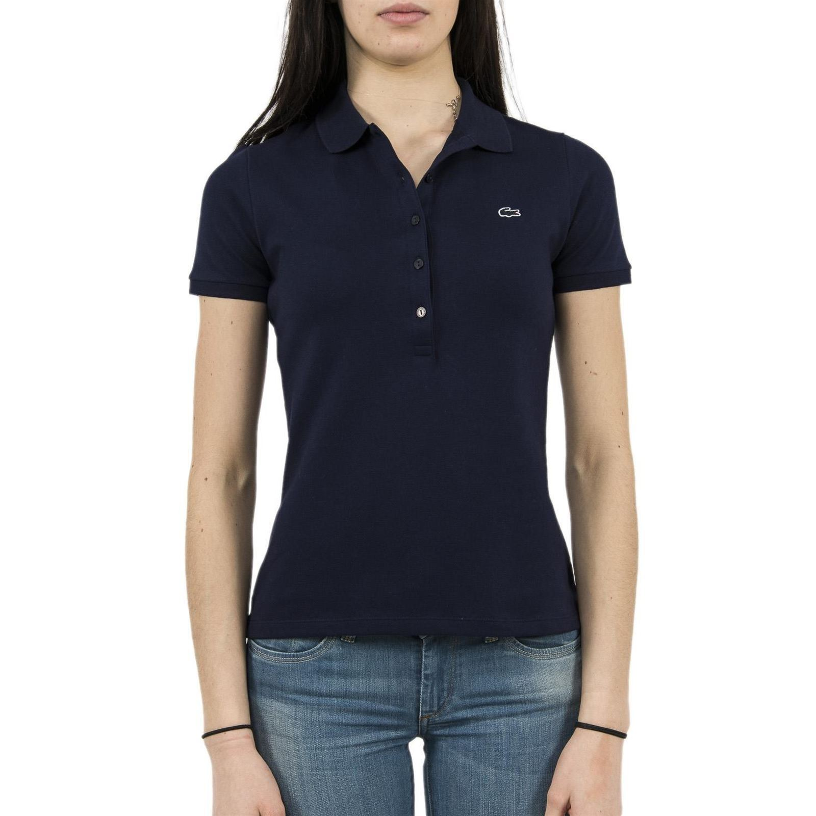 Lacoste Manches Bleu Pf6949Polo Courtes Femme V 2ID9WEHYbe