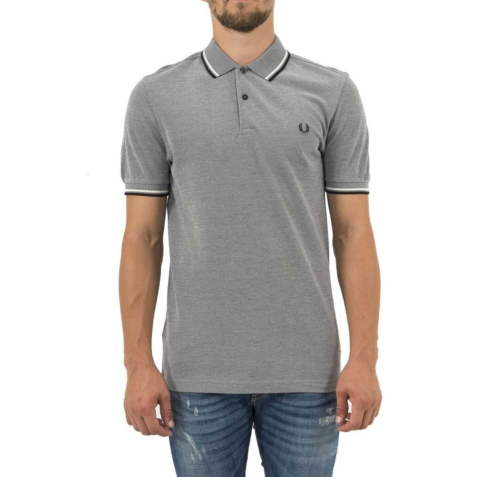 Homme Manches Perry V Fred Polo CourtesGris Y76gybf
