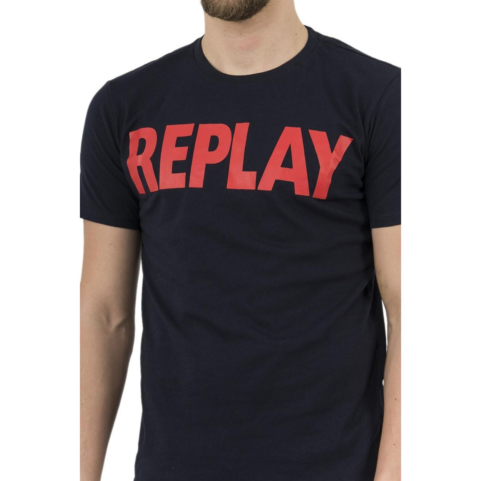 T Homme Manches CourtesBleu shirt V Replay USVMpqz