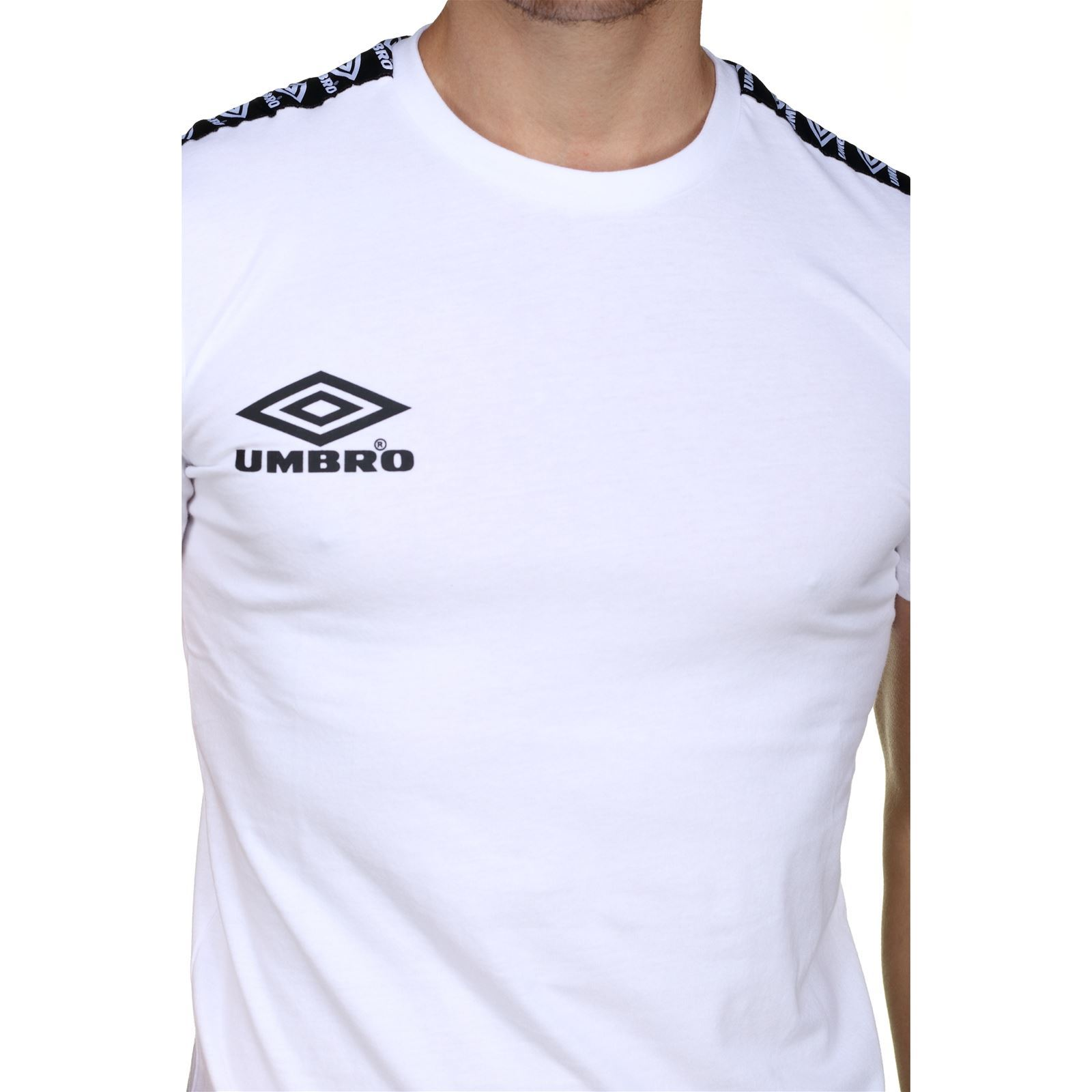 Homme TapT Tee shirt Manches Blanc V Street Umbro Courtes IE29YWDH