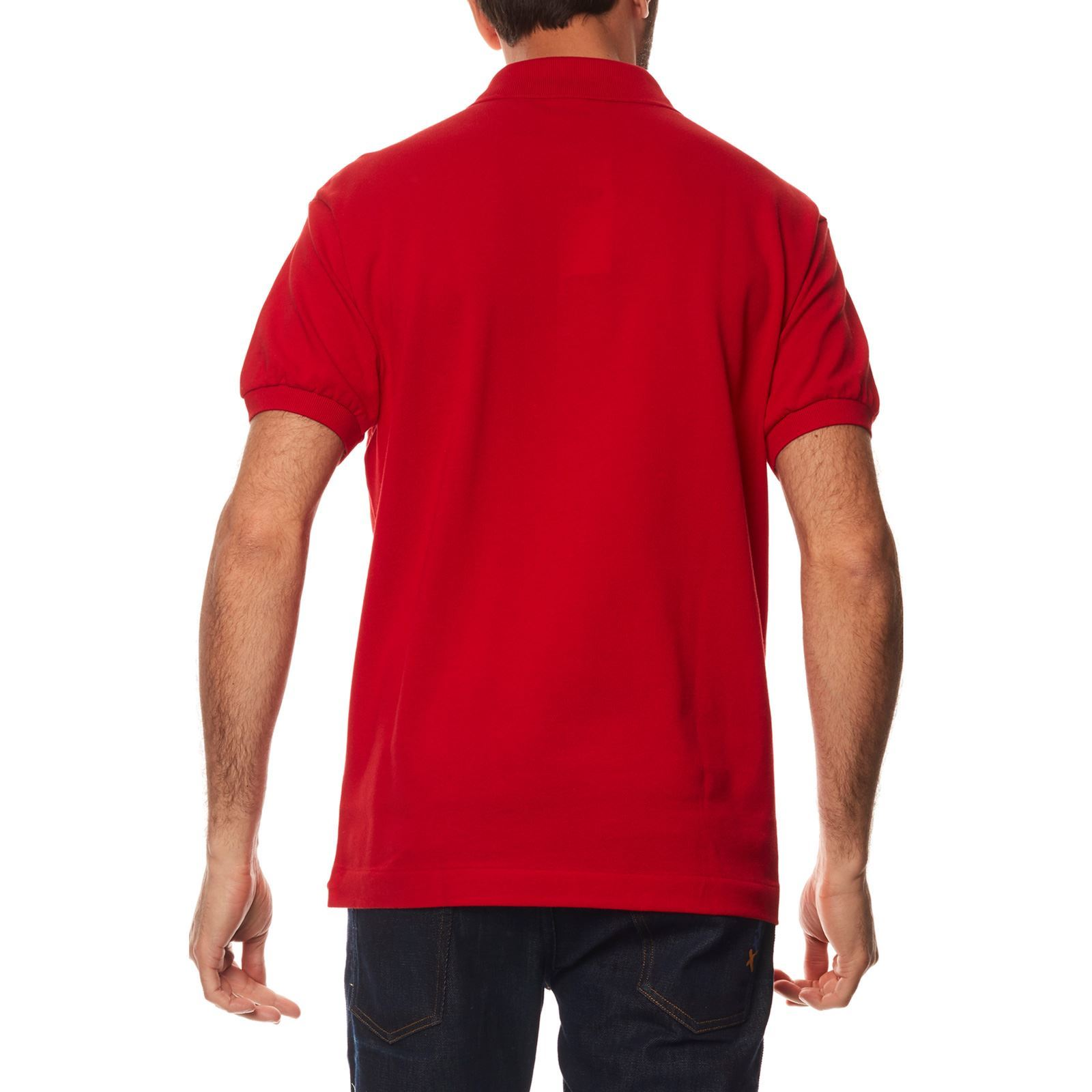 Polo V CourtesRouge Homme Lacoste Manches eWEY9H2ID