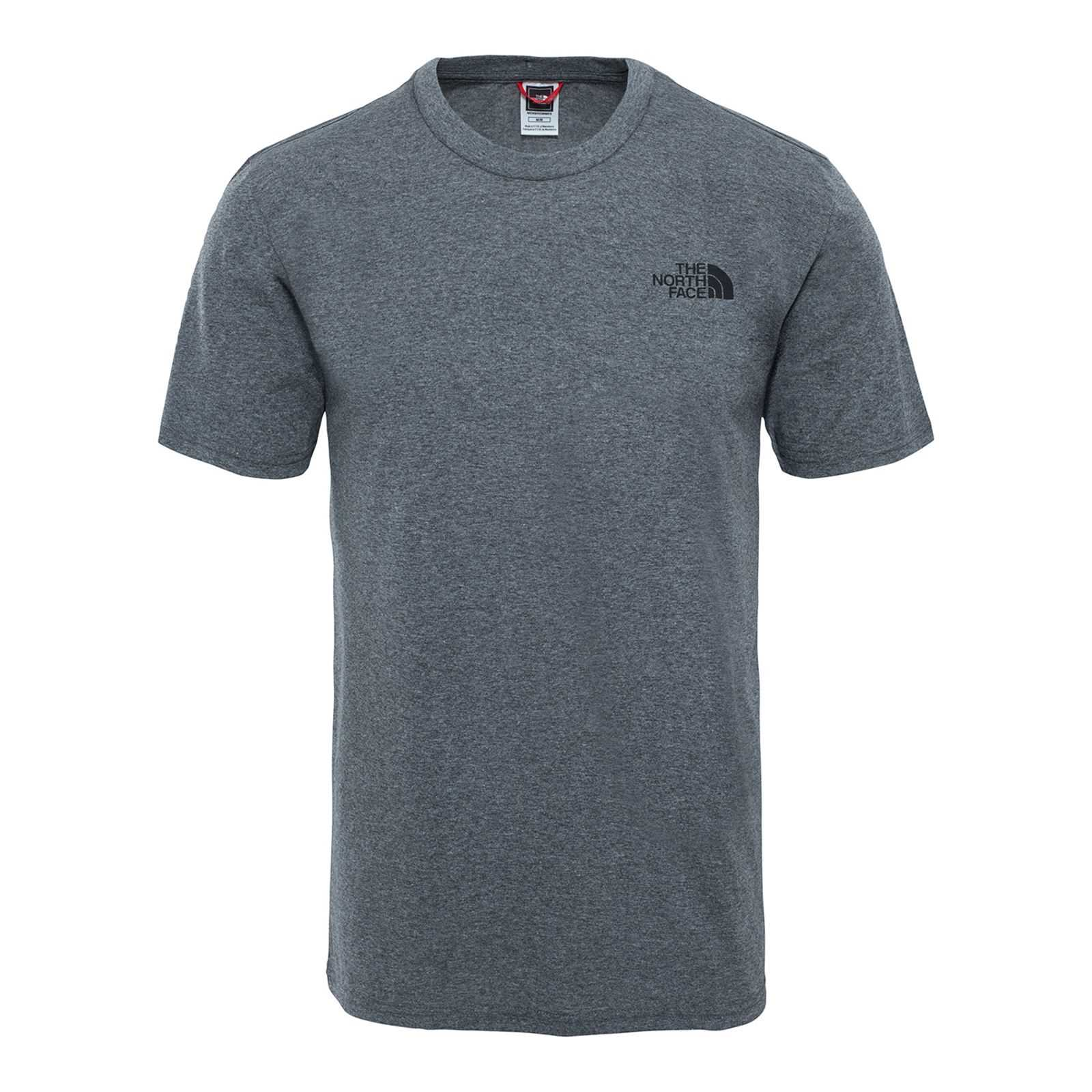 North Dome Ss TeeT Face shirt Courtes Gris Manches The Homme V Simpe PO8n0wkX