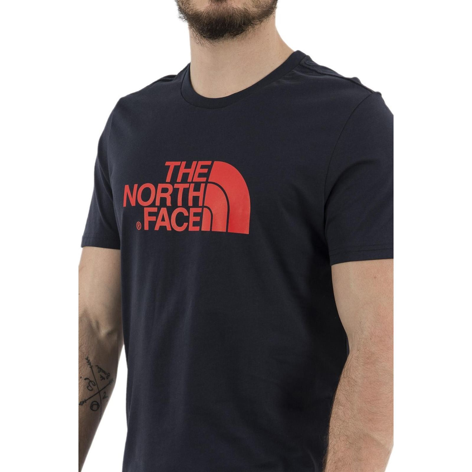 Face shirt Homme The Manches T North CourtesBleu V 8nOPwk0