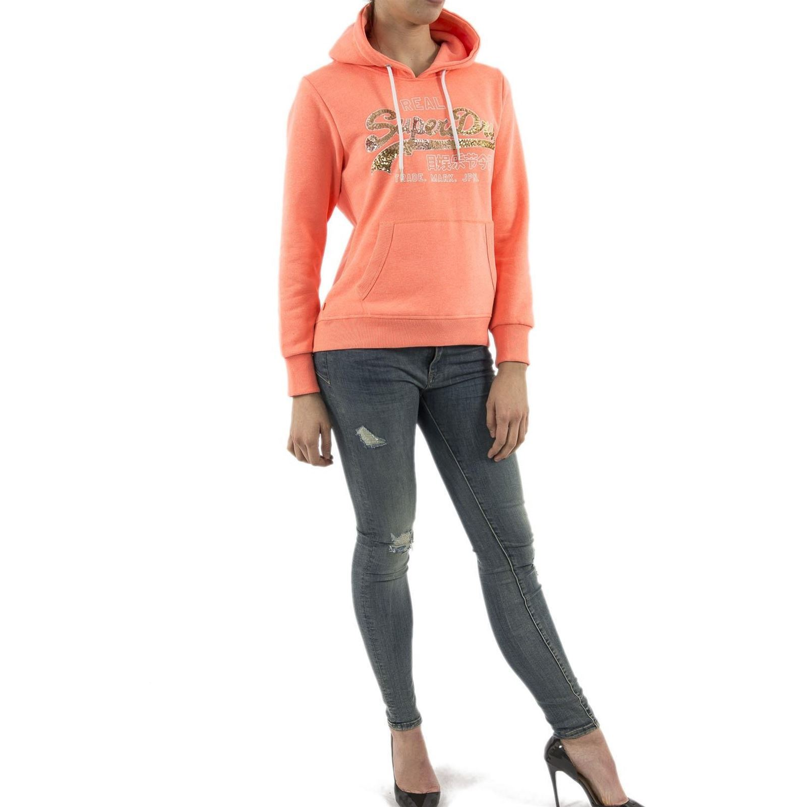Capuche V a G201314stSweat Rouge Superdry Femme DIH9E2YeW
