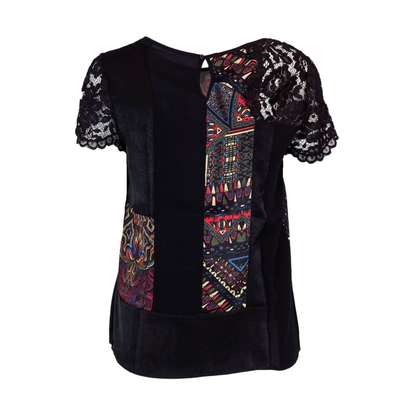 T shirt V Manches Femme Desigual CourtesNoir USzVLqGpM