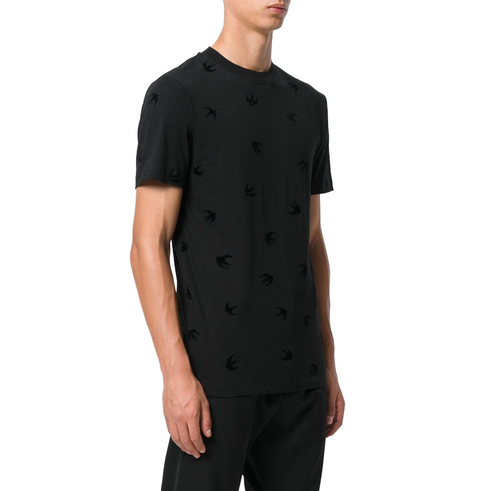 Mcq Alexander T Homme By shirt V Manches Mcqueen CourtesNoir bvYfy6mI7g