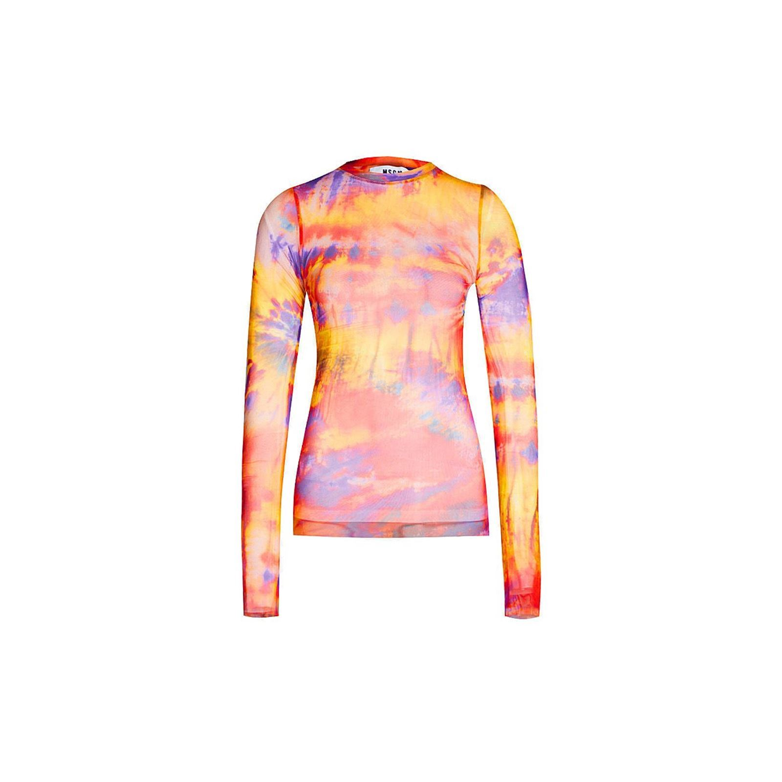 Manches V Msgm Femme T CourtesMulticolore shirt TFuK1cJ53l