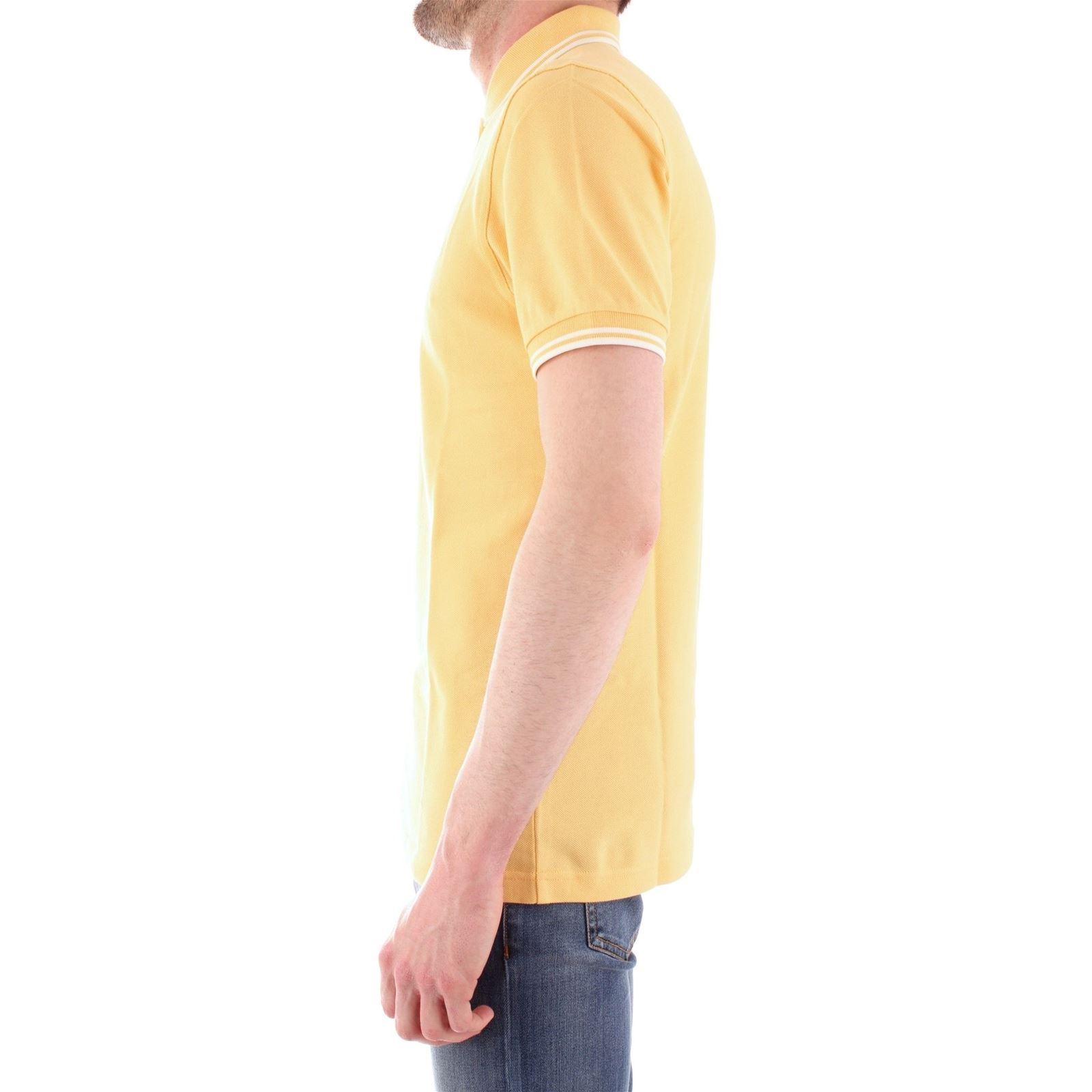 CourtesJaune Homme Fred Polo Manches Perry V lK3Tc5uJF1
