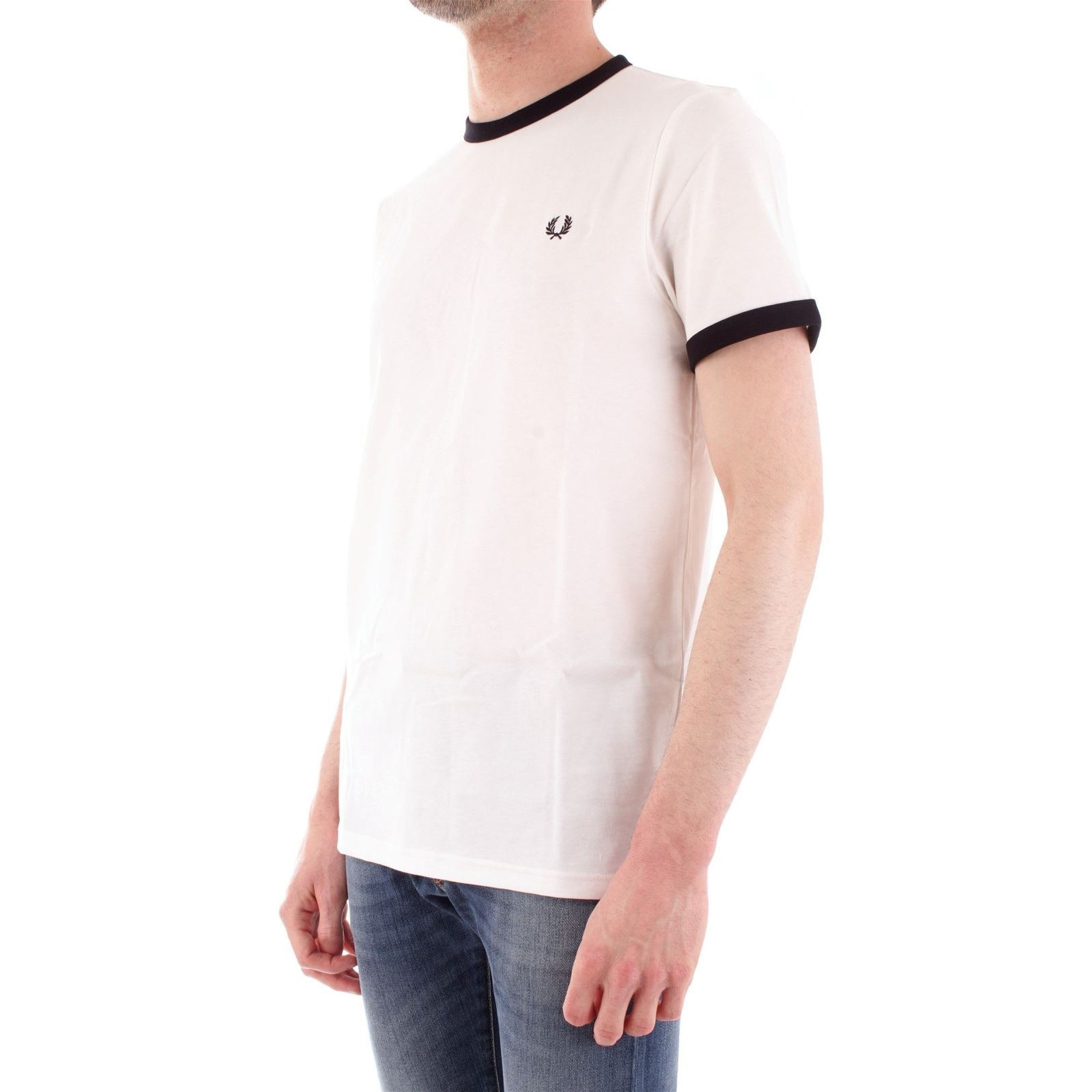Perry T Homme Manches CourtesBlanc shirt V Fred HIE9YWD2