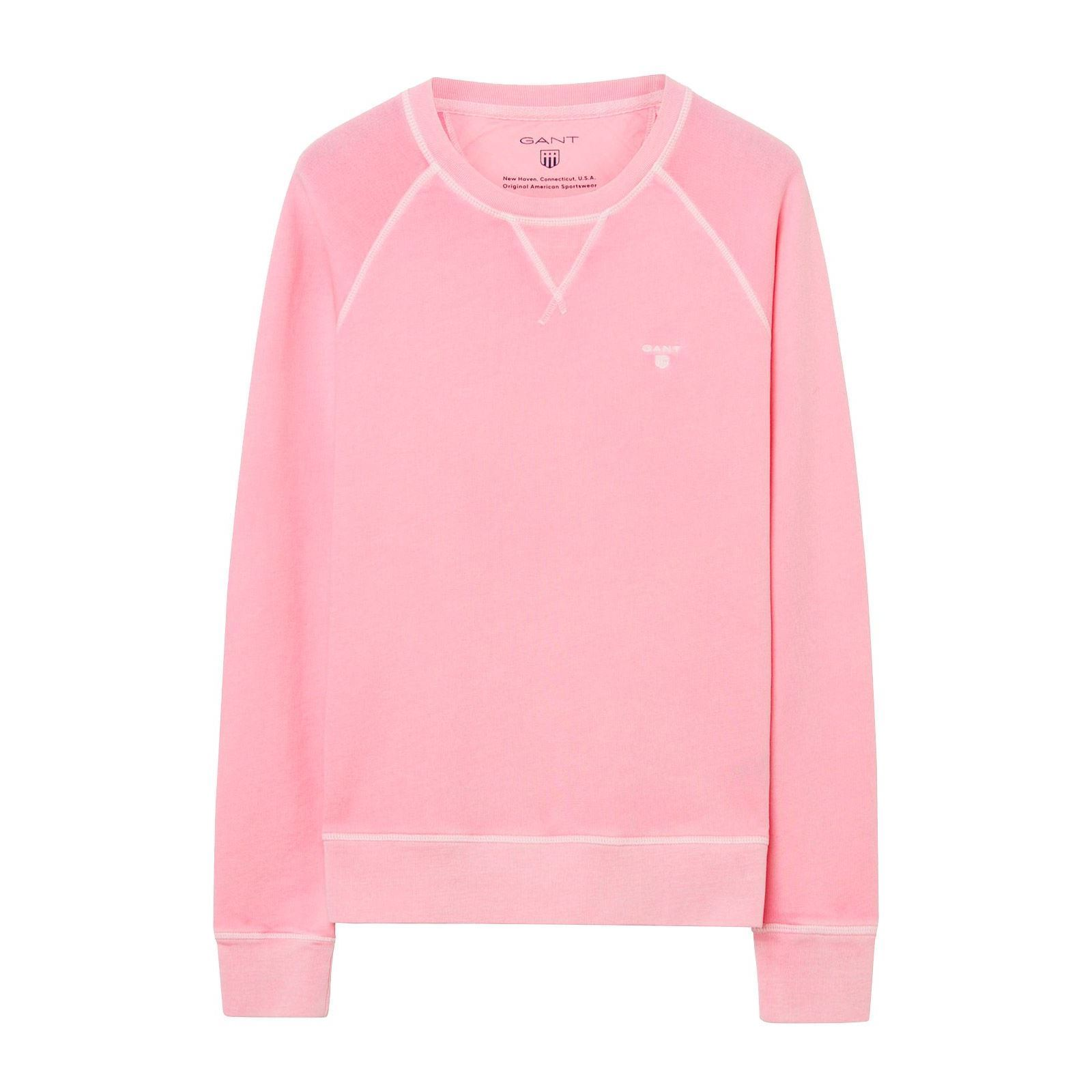 1901401200637Sweat Gant V shirt Rose Femme GqSMzVUp