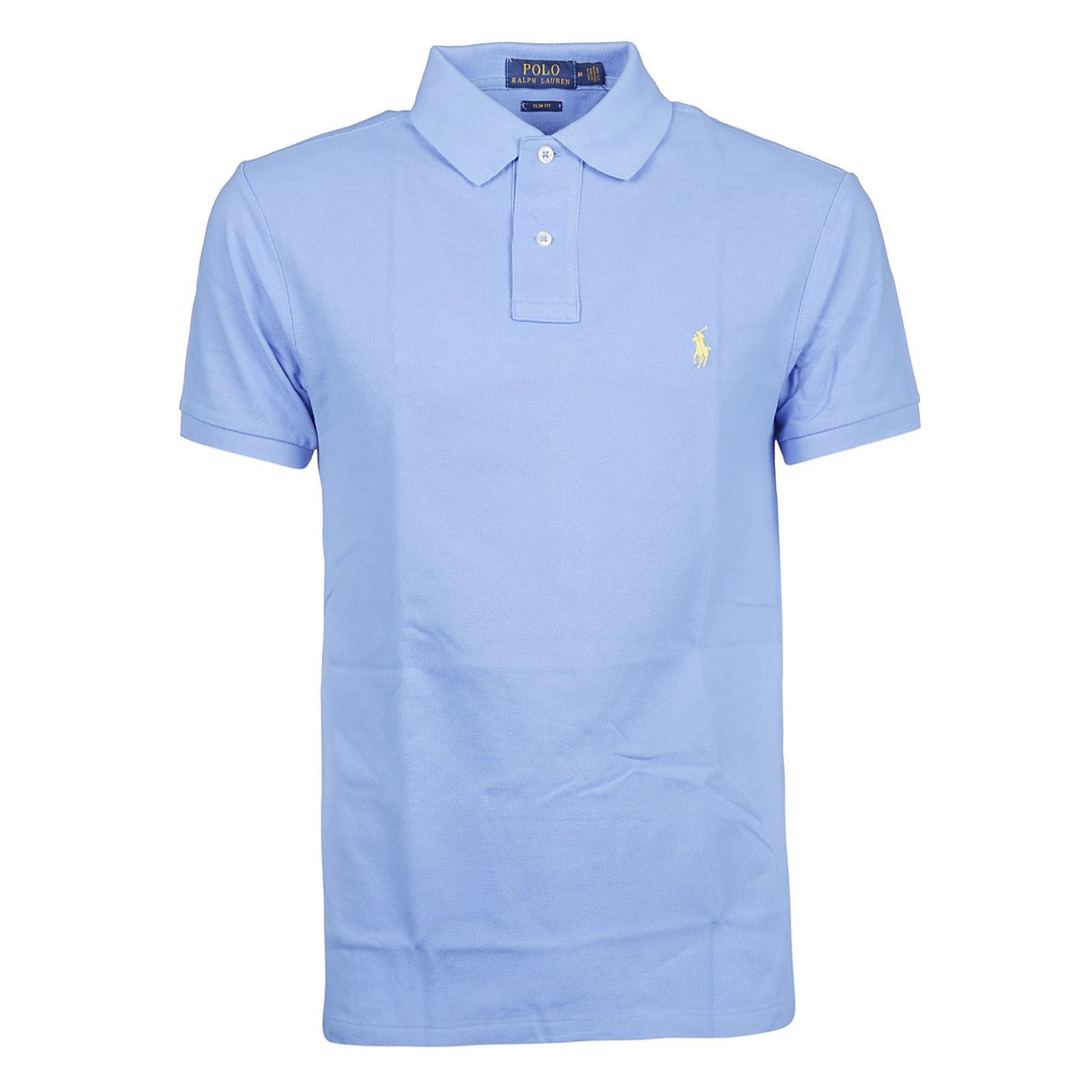 V Manches Polo Ralph CourtesBleu Homme Lauren FKJcl1