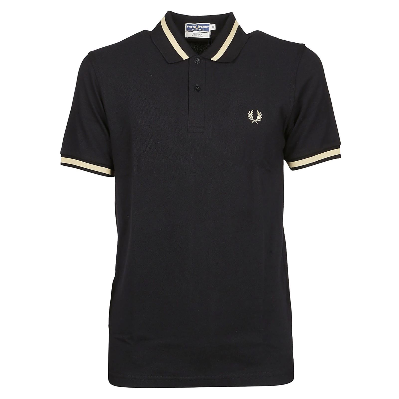 Polo CourtesNoir Homme Fred Manches Perry V PwiuOkZTX