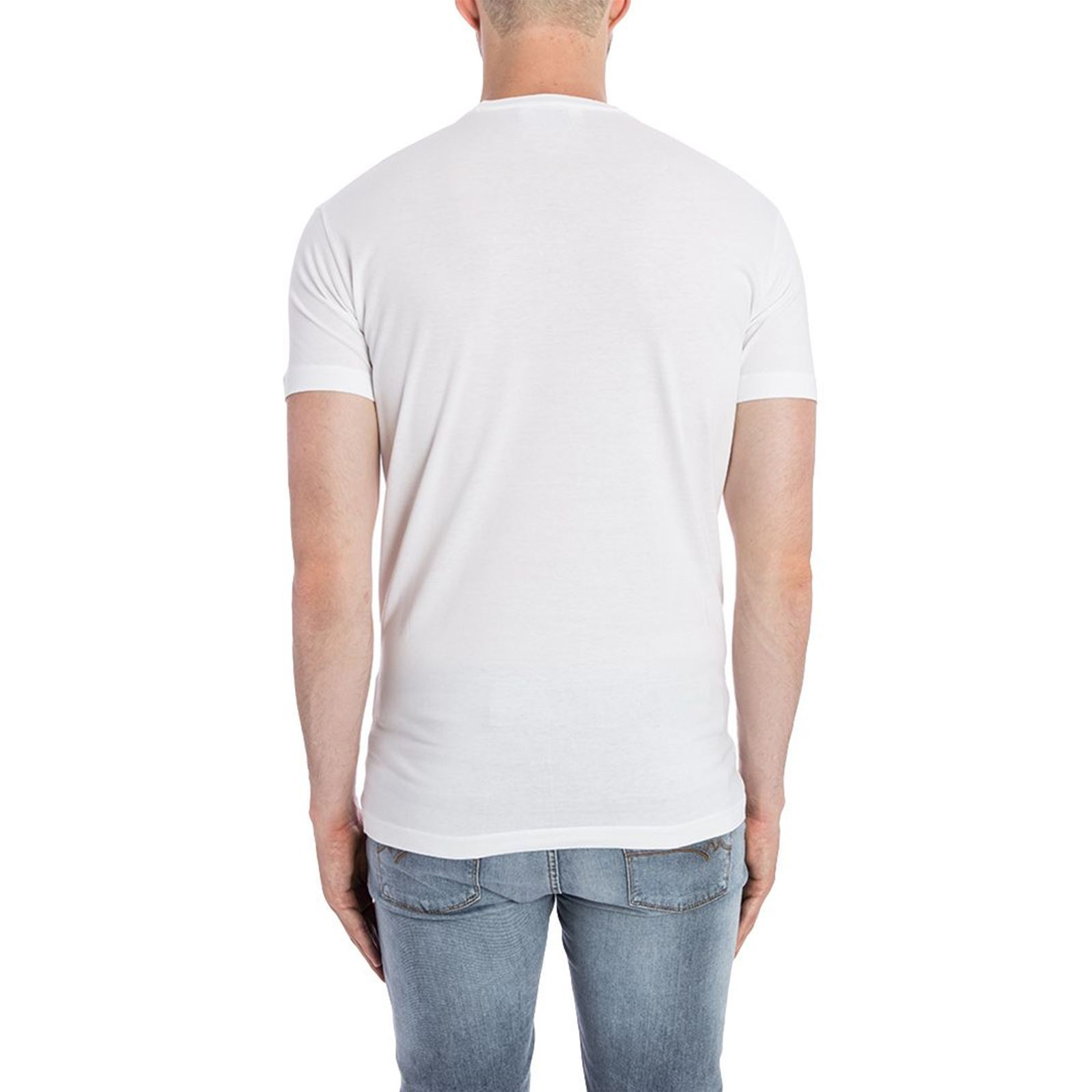 Dsquared2 V T CourtesBlanc Homme shirt Manches wn80OXZPNk