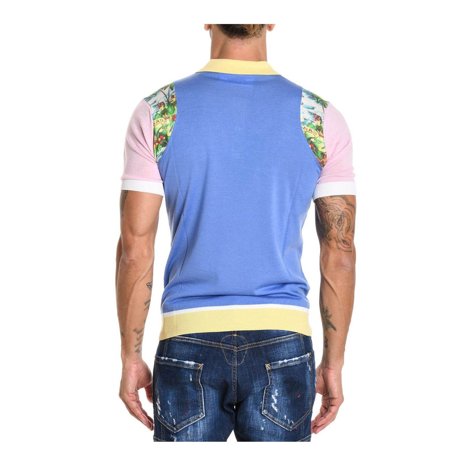 CourtesMulticolore Homme Dsquared2 Manches Polo V TcKJ1lF3