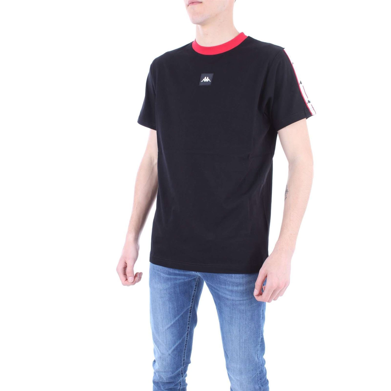 T Kappa Manches V shirt Homme CourtesNoir CWrBdoex
