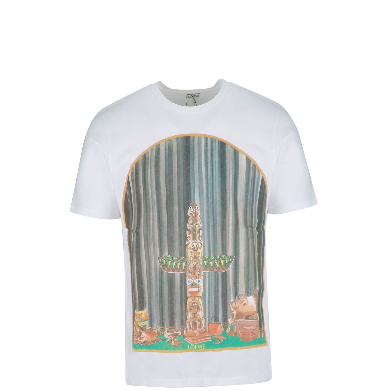 T Manches shirt CourtesBlanc V Loewe Homme 7YgvIf6mby