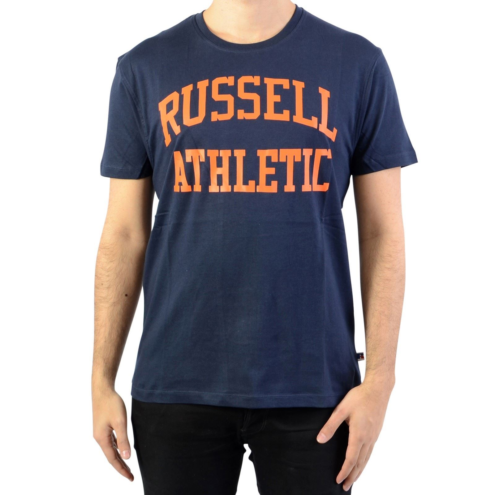 CourtesBleu T shirt V Homme Russell Manches Marine Athletic y0N8nvOPmw