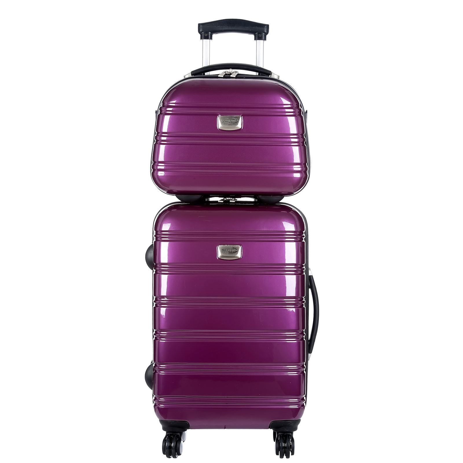 travel one ensemble valise chariot et vanity violet brandalley