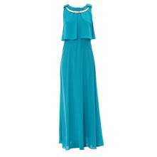 Robe longue turquoise