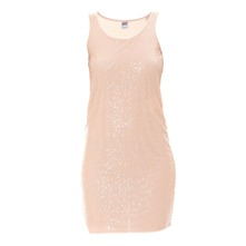 Robe mini sequins rose clair