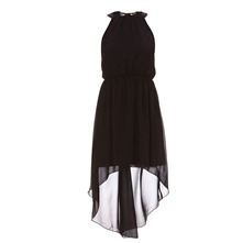 Robe en voile asymtrique noire