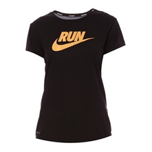 T-shirt C-NK SS Run Swoosh noir