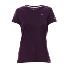 Miler ss Crew Top Grand purple/reflective silv