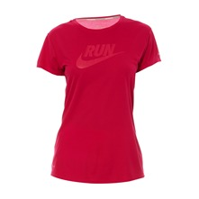 T-shirt  C-NK SS Run Swoosh fuschia