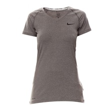 T-shirt Nike Pro SS V Neck II CARBON HEATHER/BLACK
