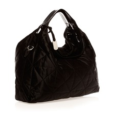 Sac  main satin noir