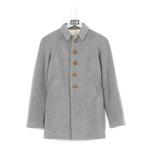 Manteau gris en laine et cachemire