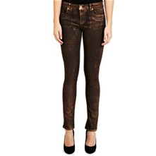 Bronze Metallic Jeans 32