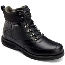 Men footwear: Black Peakview Lace-up Boots
