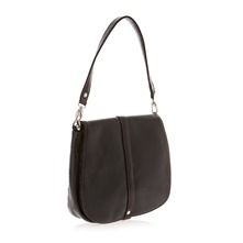 Sac  main en cuir verni noir