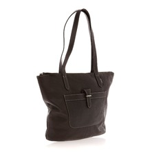 Sac cabas en cuir marron