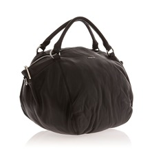 Sac week end en cuir noir