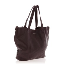 Sac cabas 2 en 1 en cuir violet
