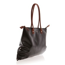 Grand sac cabas verni noir