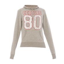 Sweat à capuche gris chiné Crew
