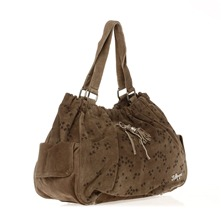 Grand sac  main en cuir sud beige