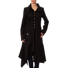 Manteau en laine mlange noire