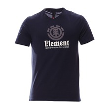 T-shirt Vertical bleu nuit