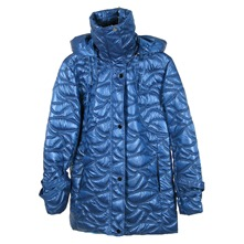 Veste matelasse bleue