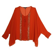 Tunique poncho orange