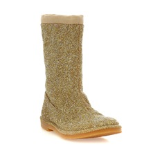 Boots paillettes or