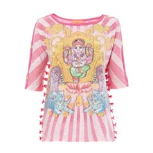 T-shirt Ganesh rose
