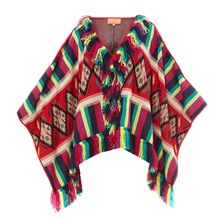 Poncho inca rouge
