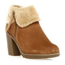 Boots  talon en cuir camel