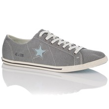 Men footwear: Men's Blue/Egre One Star Slim Trainers
