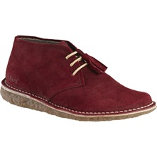 Derbies en cuir bordeaux